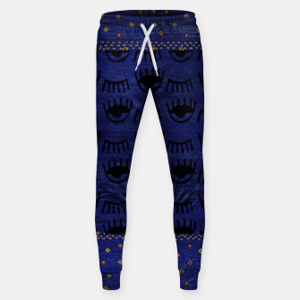 Miniaturka Blue Indigo Moroccan Traditional Artwork Sweatpants, Live Heroes