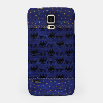 Thumbnail image of Blue Indigo Moroccan Traditional Artwork Samsung Case, Live Heroes