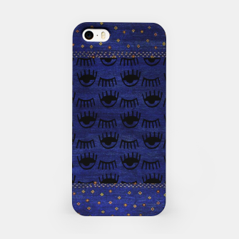 Miniaturka Blue Indigo Moroccan Traditional Artwork iPhone Case, Live Heroes