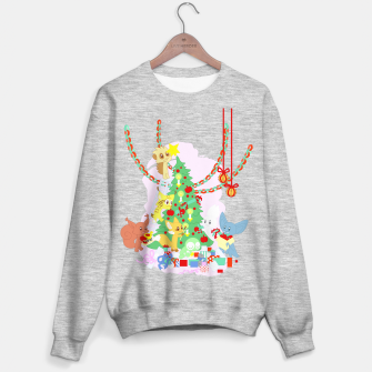 Miniatur Dressing the Yule Tree - cartoon animals Sweater regular, Live Heroes