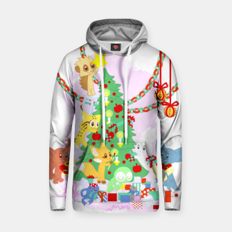 Miniatur Dressing the Yule Tree - cartoon animals Hoodie, Live Heroes