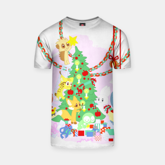 Miniatur Dressing the Yule Tree - cartoon animals T-shirt, Live Heroes