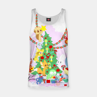 Miniatur Dressing the Yule Tree - cartoon animals Tank Top, Live Heroes