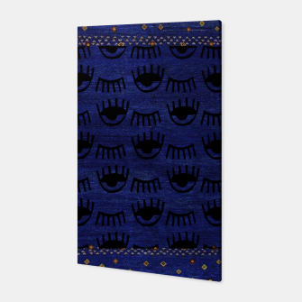 Miniaturka Blue Indigo Moroccan Traditional Artwork Canvas, Live Heroes