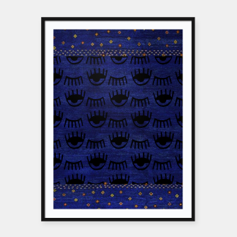 Miniaturka Blue Indigo Moroccan Traditional Artwork Framed poster, Live Heroes