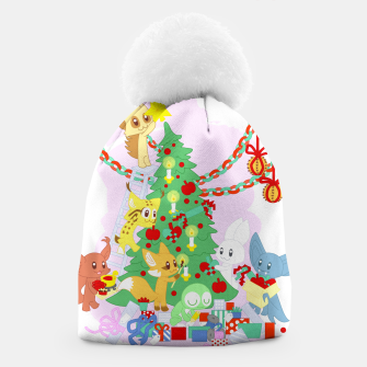 Miniatur Dressing the Yule Tree - cartoon animals Beanie, Live Heroes