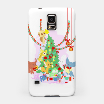 Miniatur Dressing the Yule Tree - cartoon animals Samsung Case, Live Heroes