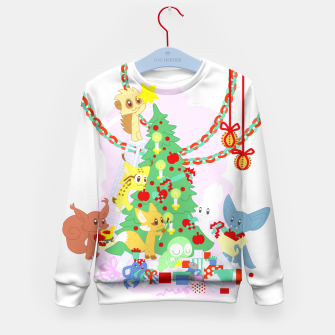 Miniatur Dressing the Yule Tree - cartoon animals Kid's sweater, Live Heroes