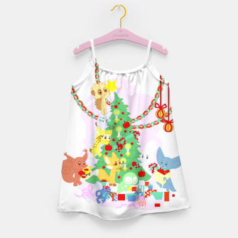 Miniatur Dressing the Yule Tree - cartoon animals Girl's dress, Live Heroes