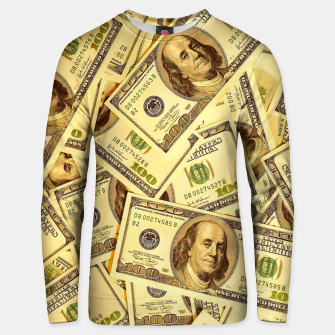 Thumbnail image of Franklin Hundred Dollar Bills Unisex sweater, Live Heroes