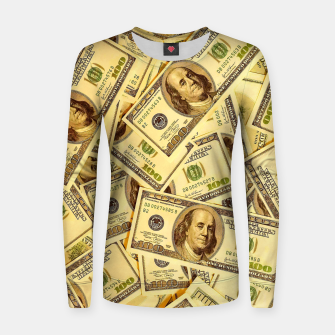 Thumbnail image of Franklin Hundred Dollar Bills Women sweater, Live Heroes