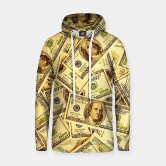 Thumbnail image of Franklin Hundred Dollar Bills Hoodie, Live Heroes