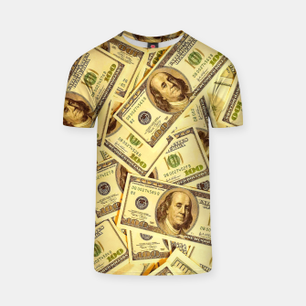 Thumbnail image of Franklin Hundred Dollar Bills T-shirt, Live Heroes