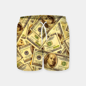 Thumbnail image of Franklin Hundred Dollar Bills Swim Shorts, Live Heroes