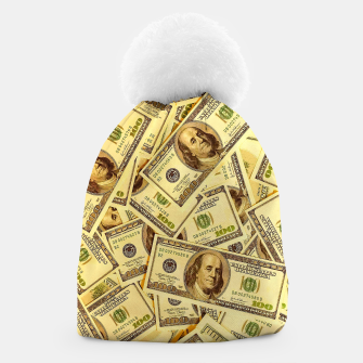 Thumbnail image of Franklin Hundred Dollar Bills Beanie, Live Heroes