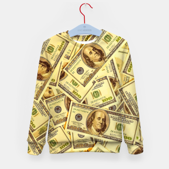 Thumbnail image of Franklin Hundred Dollar Bills Kid's sweater, Live Heroes