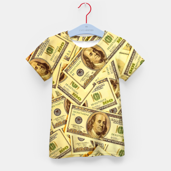 Thumbnail image of Franklin Hundred Dollar Bills Kid's t-shirt, Live Heroes