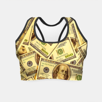 Thumbnail image of Franklin Hundred Dollar Bills Crop Top, Live Heroes