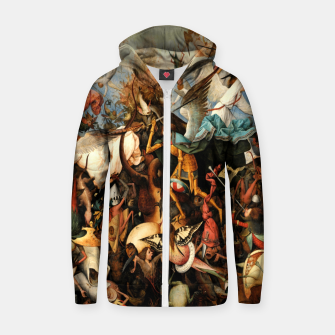 Thumbnail image of The Fall of the Rebel Angels Zip up hoodie, Live Heroes