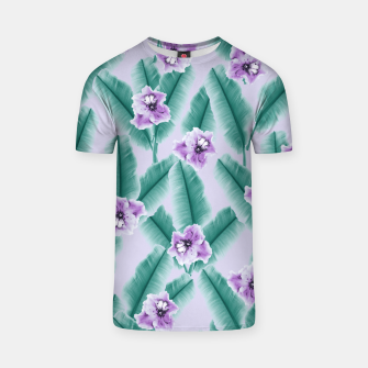 Thumbnail image of Tropical Banana Leaves Flower Jungle #3 #tropical #decor #art T-Shirt, Live Heroes