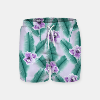 Miniaturka Tropical Banana Leaves Flower Jungle #3 #tropical #decor #art Badeshorts, Live Heroes