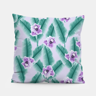 Miniaturka Tropical Banana Leaves Flower Jungle #3 #tropical #decor #art Kissen, Live Heroes
