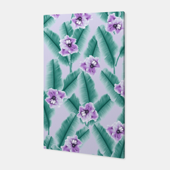 Miniaturka Tropical Banana Leaves Flower Jungle #3 #tropical #decor #art Canvas, Live Heroes