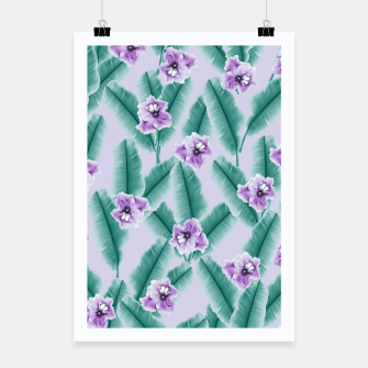 Miniaturka Tropical Banana Leaves Flower Jungle #3 #tropical #decor #art Plakat, Live Heroes