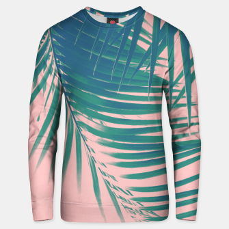 Palm Leaves Blush Summer Vibes #2 #tropical #decor #art Unisex sweatshirt Bild der Miniatur
