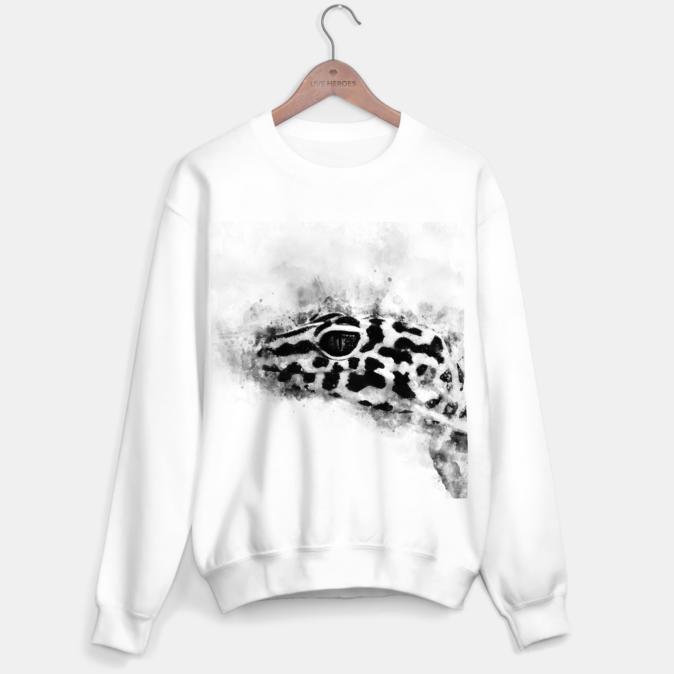 Image of Leopard Gecko p2bw Sweater regular - Live Heroes