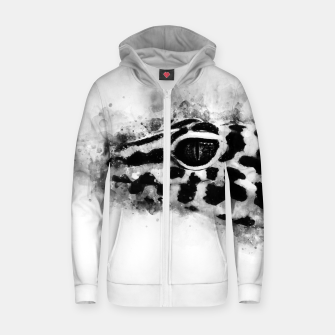 Leopard Gecko p2bw Zip up hoodie thumbnail image