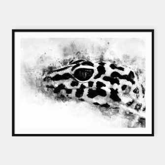 Thumbnail image of Leopard Gecko p2bw Framed poster, Live Heroes