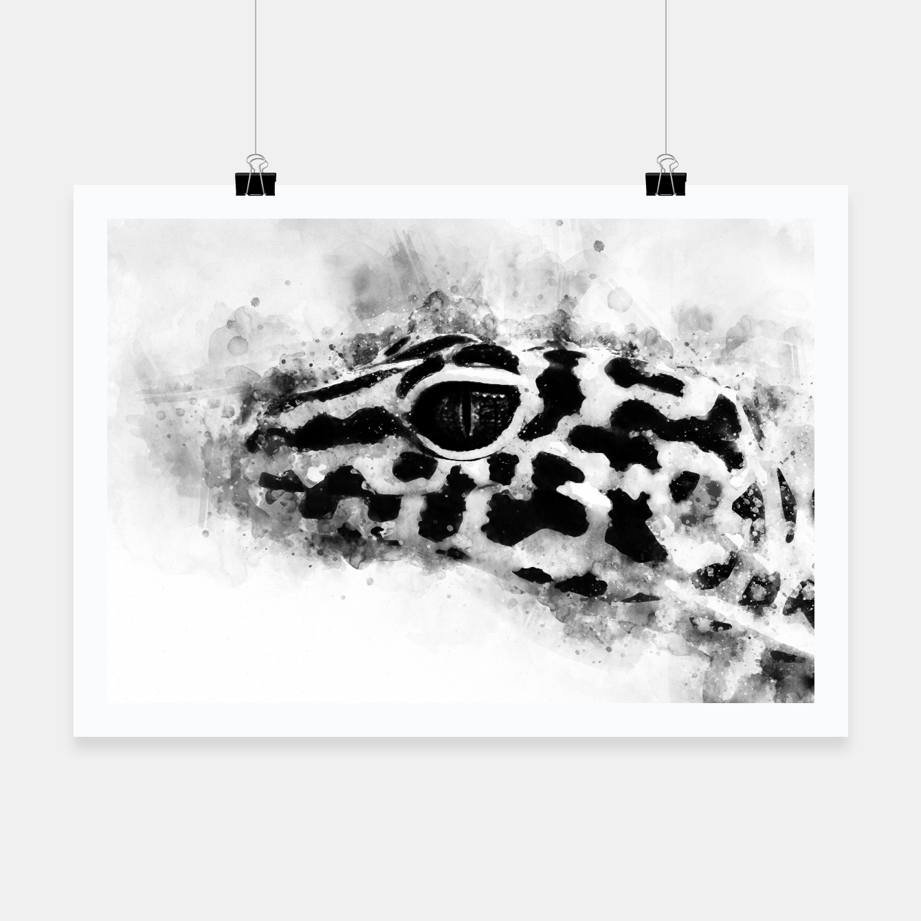 Image of Leopard Gecko p2bw Poster - Live Heroes