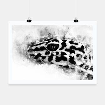 Thumbnail image of Leopard Gecko p2bw Poster, Live Heroes