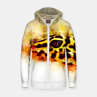 Thumbnail image of Leopard Gecko p2std Zip up hoodie, Live Heroes