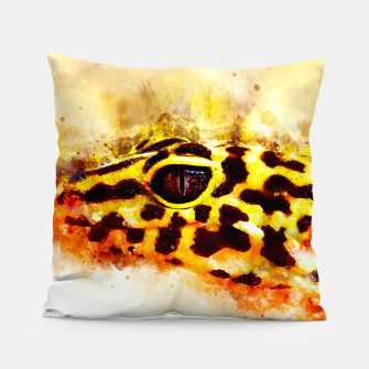 Thumbnail image of Leopard Gecko p2std Pillow, Live Heroes