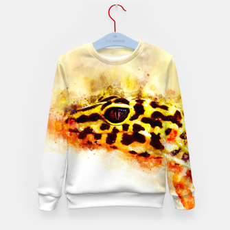 Thumbnail image of Leopard Gecko p2std Kid's sweater, Live Heroes