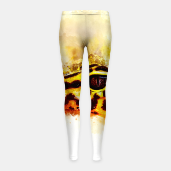 Thumbnail image of Leopard Gecko p2std Girl's leggings, Live Heroes