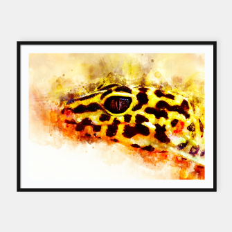Thumbnail image of Leopard Gecko p2std Framed poster, Live Heroes
