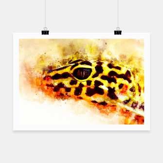 Thumbnail image of Leopard Gecko p2std Poster, Live Heroes