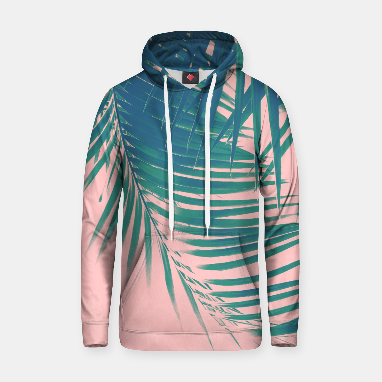 Zdjęcie Palm Leaves Blush Summer Vibes #2 #tropical #decor #art Kapuzenpullover - Live Heroes