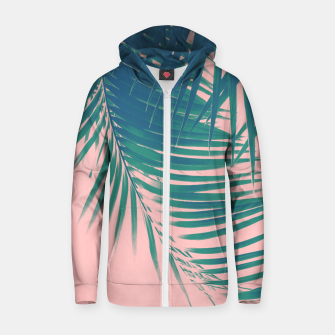 Palm Leaves Blush Summer Vibes #2 #tropical #decor #art Reißverschluss kapuzenpullover obraz miniatury