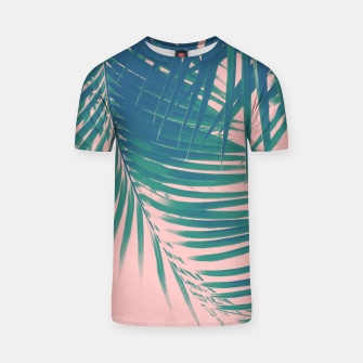 Palm Leaves Blush Summer Vibes #2 #tropical #decor #art T-Shirt obraz miniatury