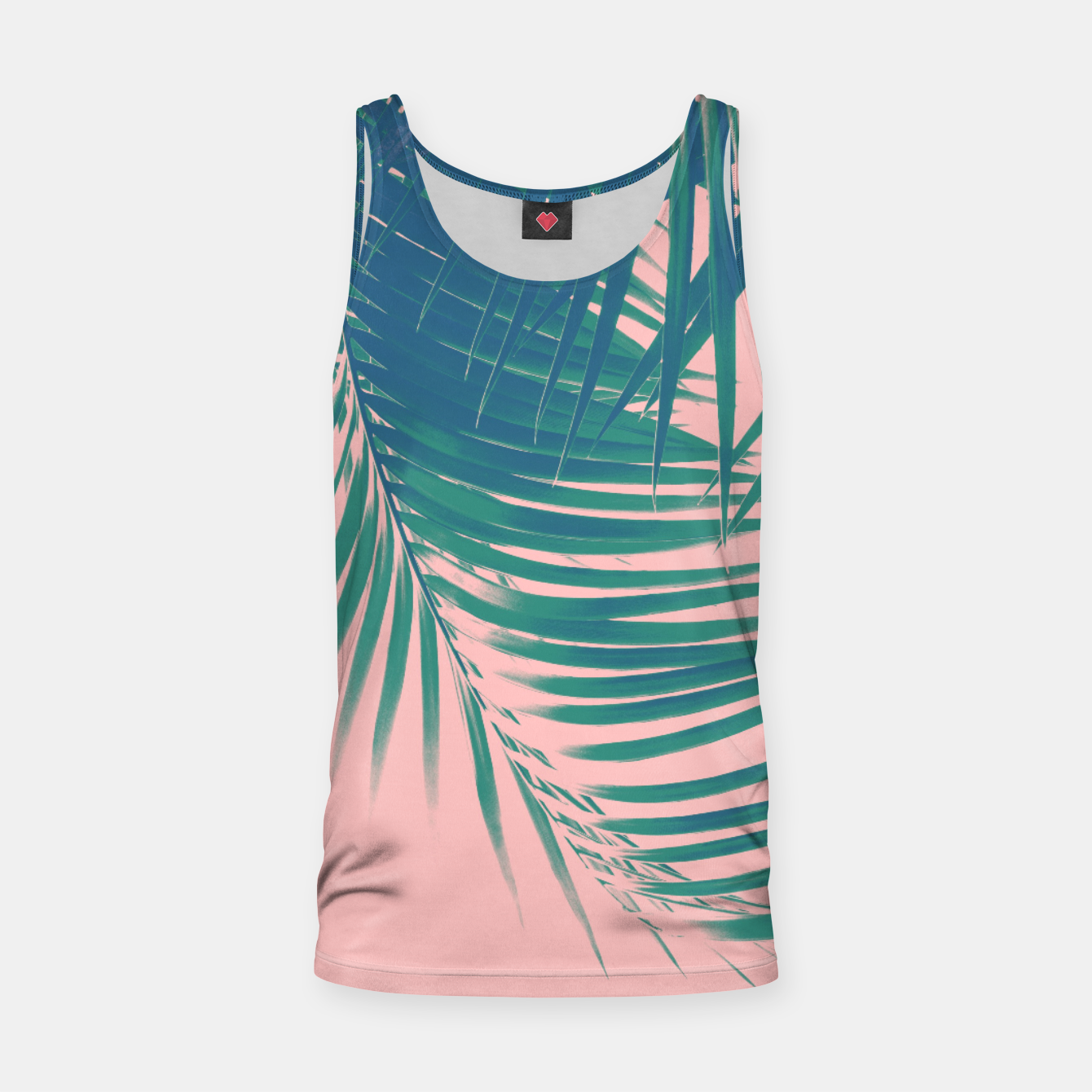 Foto Palm Leaves Blush Summer Vibes #2 #tropical #decor #art Muskelshirt  - Live Heroes