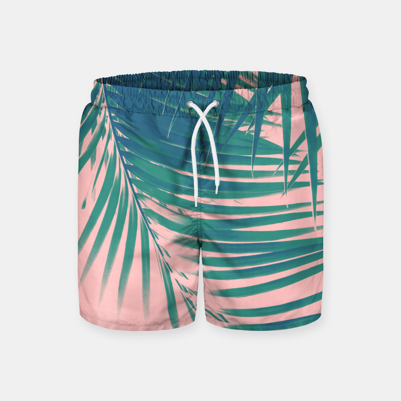 Zdjęcie Palm Leaves Blush Summer Vibes #2 #tropical #decor #art Badeshorts - Live Heroes