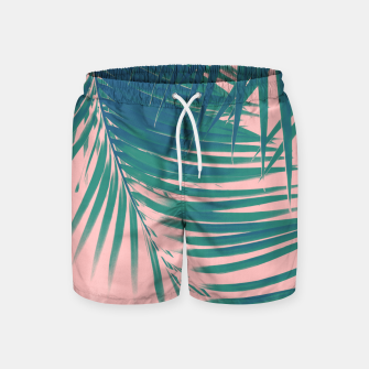 Palm Leaves Blush Summer Vibes #2 #tropical #decor #art Badeshorts Bild der Miniatur