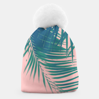 Palm Leaves Blush Summer Vibes #2 #tropical #decor #art Mütze obraz miniatury