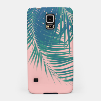 Palm Leaves Blush Summer Vibes #2 #tropical #decor #art Handyhülle für Samsung Bild der Miniatur