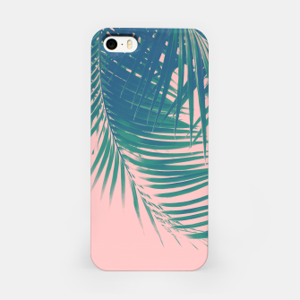 Palm Leaves Blush Summer Vibes #2 #tropical #decor #art iPhone-Hülle Bild der Miniatur