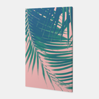 Palm Leaves Blush Summer Vibes #2 #tropical #decor #art Canvas obraz miniatury